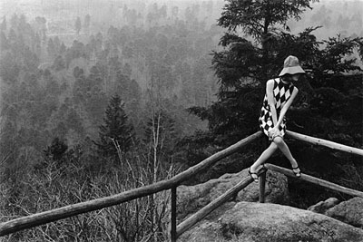 Fashion shoot in the Black Forest for Vogue by Peter Rand